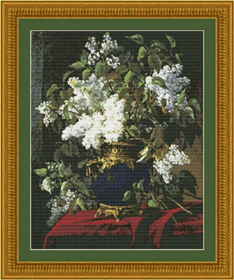 click here to view larger image of White Lilacs (chart)