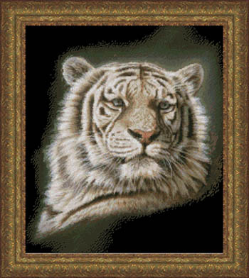 click here to view larger image of Portrait of a White Tiger (chart)