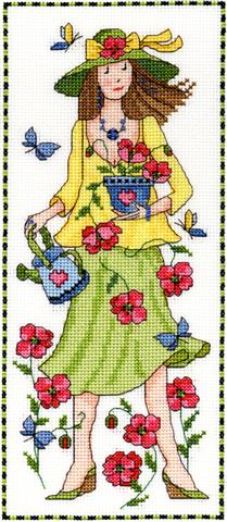 click here to view larger image of Camilla - Garden Lasses (counted cross stitch kit)