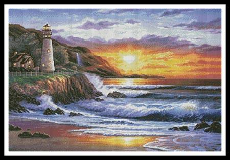 click here to view larger image of Lighthouse at Sunset (chart)