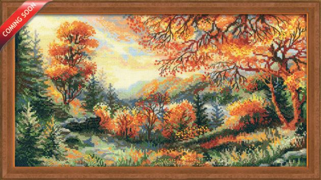 click here to view larger image of Crimson Autumn (counted cross stitch kit)