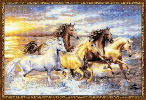 click here to view larger image of In The Sunset (counted cross stitch kit)