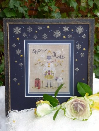 click here to view larger image of Grey Snowman (counted cross stitch kit)