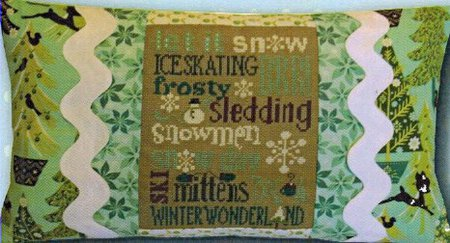 click here to view larger image of Winter Typography Pillow Kit (counted cross stitch kit)