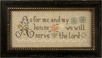 click here to view larger image of As for Me and My House Inspiration Boxer (counted cross stitch kit)