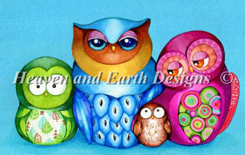 click here to view larger image of Owl Family Portrait (chart)