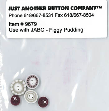 click here to view larger image of Figgy Pudding Button Pack (button pack)