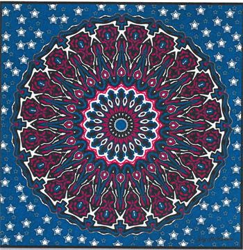 click here to view larger image of Patriotic Mandala (chart)