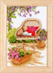 click here to view larger image of Flower Wicker Chair (None Selected)