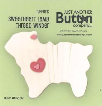 click here to view larger image of Sweetheart Lamb Thread Winder - Tuffet's Travels (accessory)