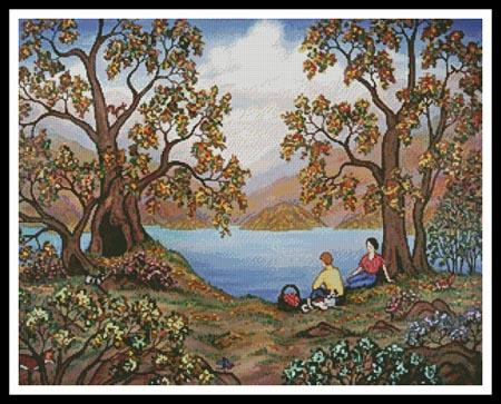 click here to view larger image of Picnic by a lake  (Linda Mears) (chart)