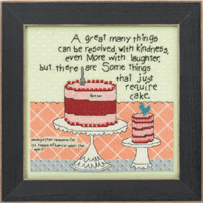 click here to view larger image of Cake Required - Curly Girl series (counted cross stitch kit)