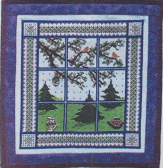 click here to view larger image of Spring Window Quilt (chart with charms/buttons)