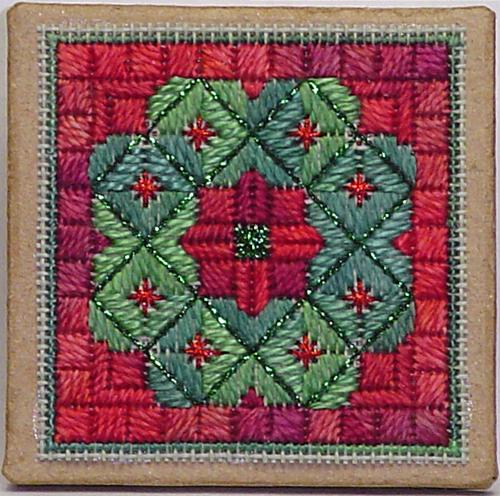click here to view larger image of Christmas Wreath Ort Box (counted canvas chart)