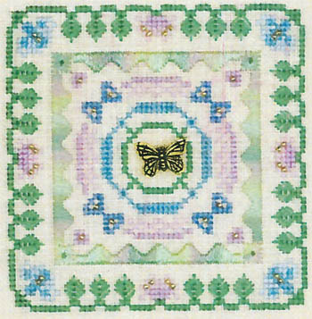 click here to view larger image of Butterfly Square (Charm Included) (chart)