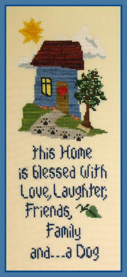 click here to view larger image of Home Blessing - Dog (w/btn) (chart)