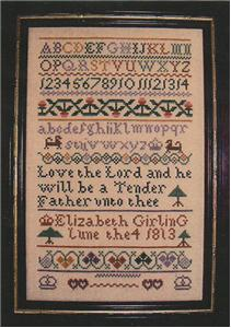 click here to view larger image of Elizabeth Girling Sampler (chart)