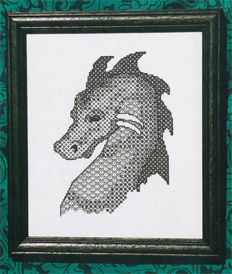 click here to view larger image of Blackwork Dragon (chart)
