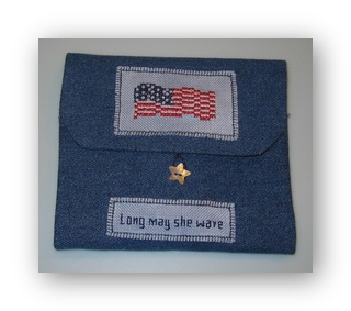 click here to view larger image of Long May She Wave Sewing Case Kit (counted cross stitch kit)
