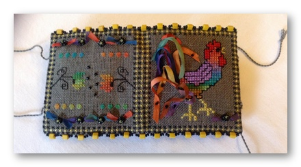 click here to view larger image of Doodle - Doo Stitcher's Roll Kit (counted cross stitch kit)