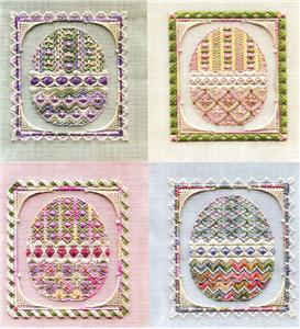 click here to view larger image of Easter Egg Ornaments (Includes Embellishments) (counted canvas chart)