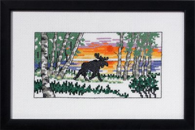 click here to view larger image of Silhouette Moose (counted cross stitch kit)