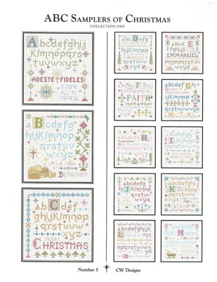 click here to view larger image of ABC Samplers of Christmas 1 (chart)