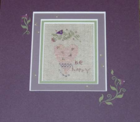 click here to view larger image of Be Happy (counted cross stitch kit)