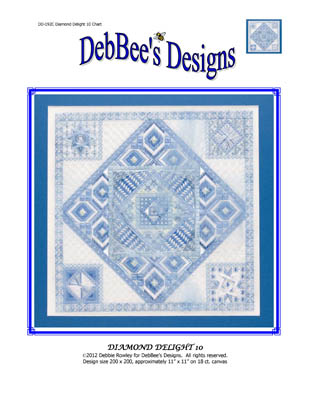 click here to view larger image of Diamond Delight  10 (counted canvas chart)