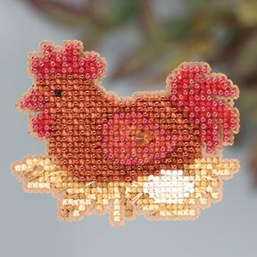 click here to view larger image of Chicken or the Egg (2013) (counted cross stitch kit)