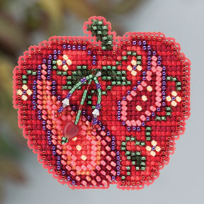 click here to view larger image of Jeweled Apple (2013) (counted cross stitch kit)