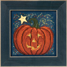 click here to view larger image of Midnight Pumpkin (2013) (counted cross stitch kit)