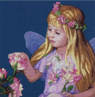 click here to view larger image of Rose Fairy (counted cross stitch kit)