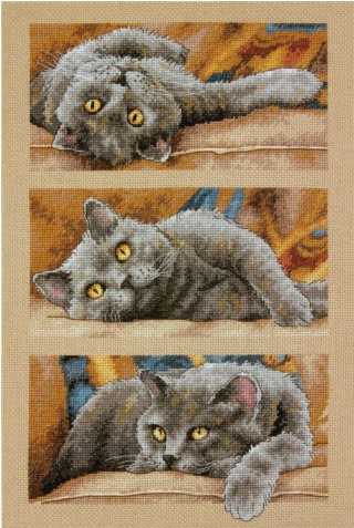 click here to view larger image of Max The Cat (counted cross stitch kit)
