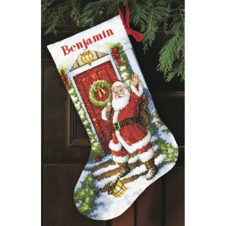 click here to view larger image of Welcome Santa Stocking (counted cross stitch kit)