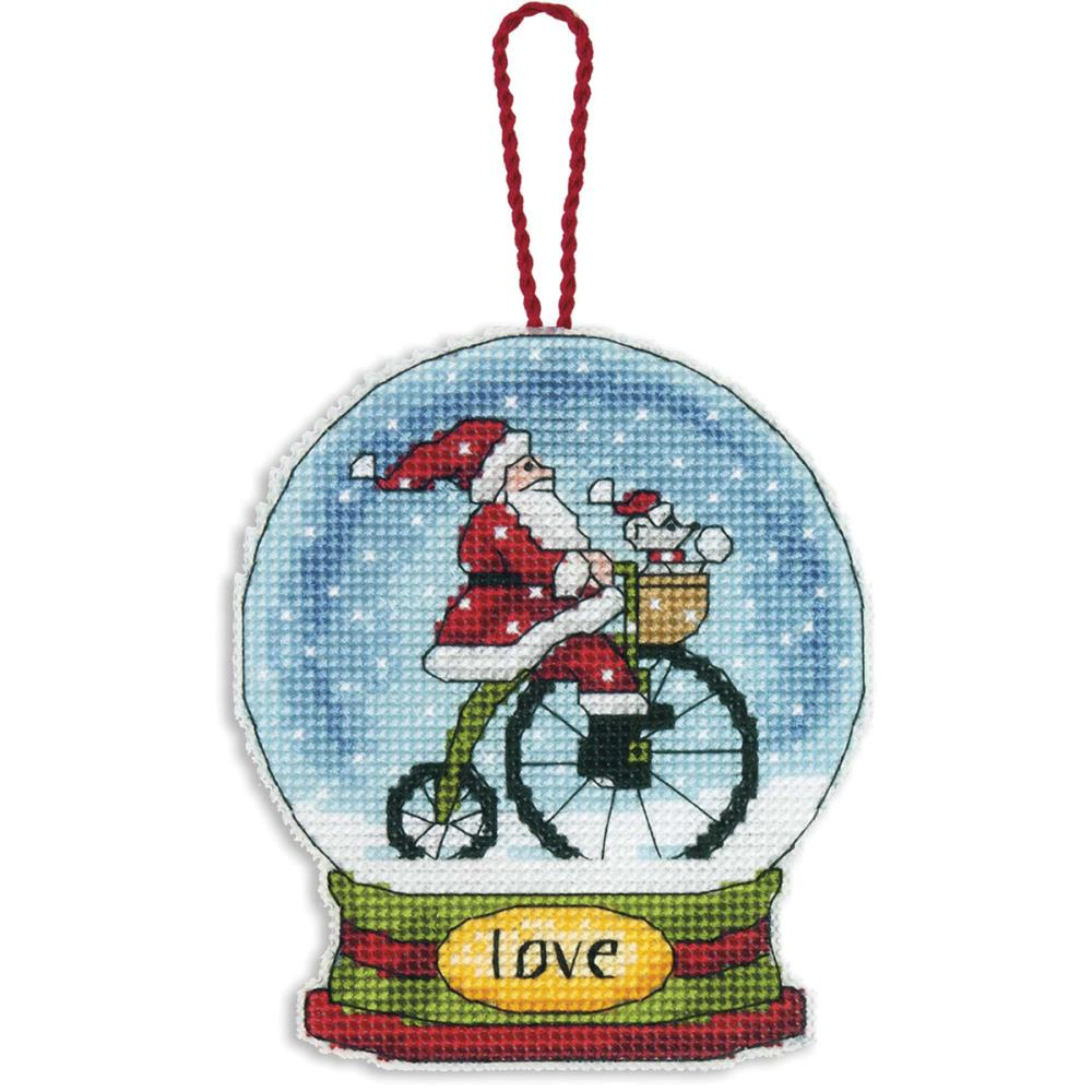 click here to view larger image of Love Snowglobe (counted cross stitch kit)