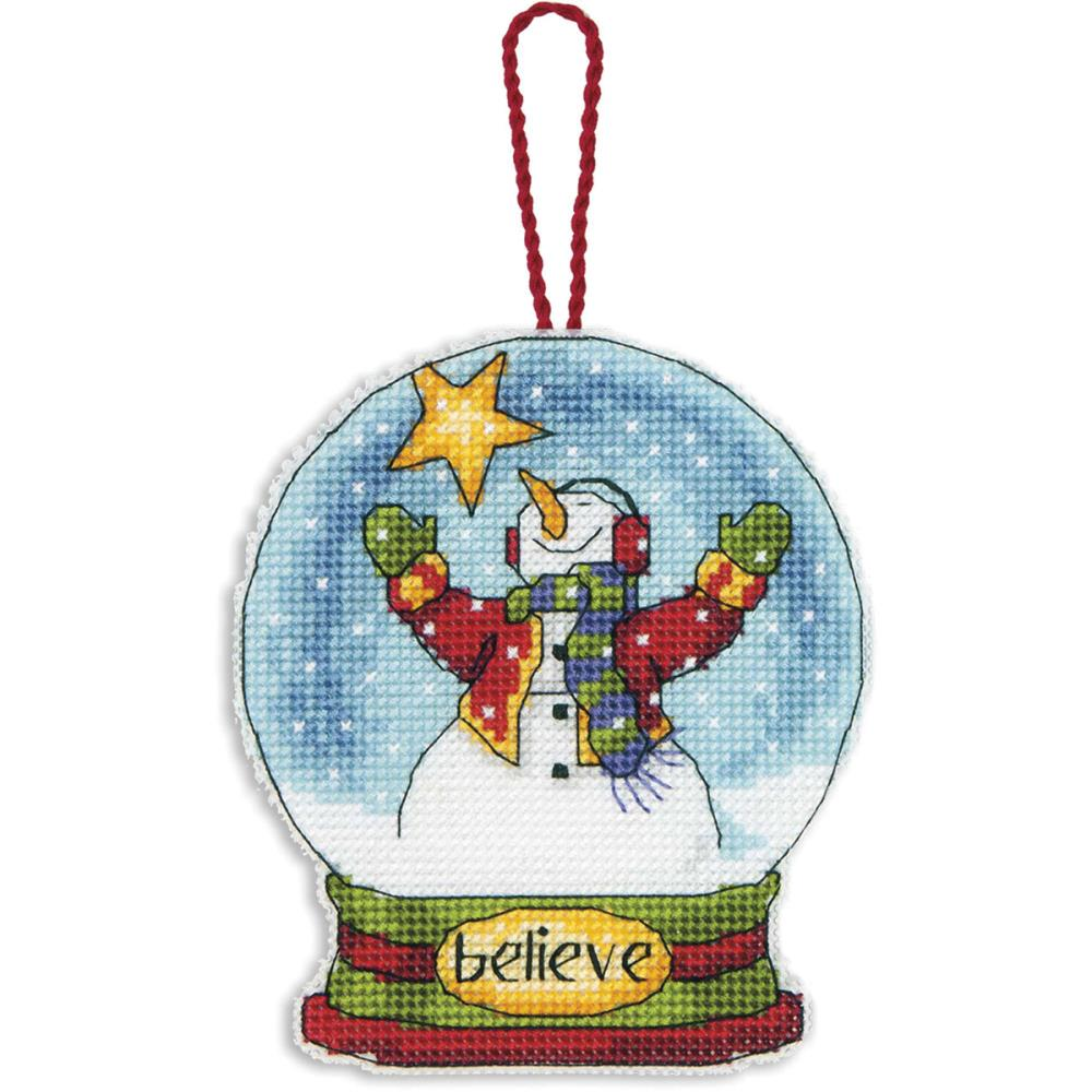 click here to view larger image of Believe Snowglobe (counted cross stitch kit)