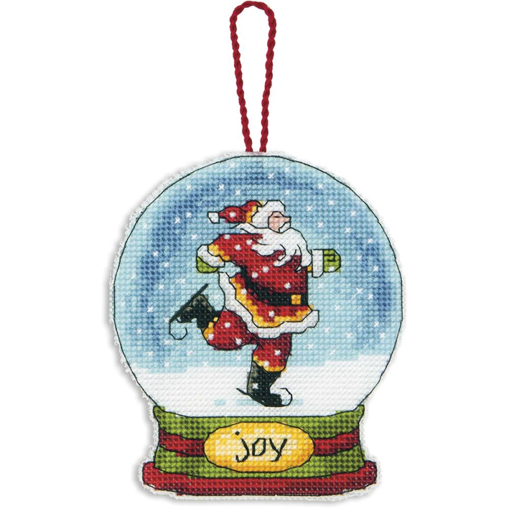 click here to view larger image of Joy Snowglobe (counted cross stitch kit)