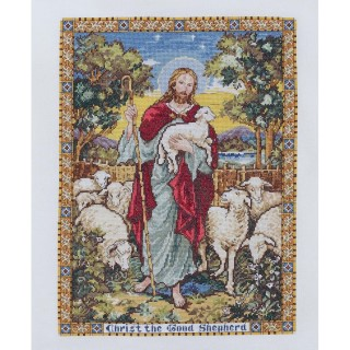 click here to view larger image of Good Shepherd (counted cross stitch kit)