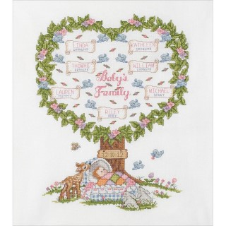 click here to view larger image of Baby's Family Tree (counted cross stitch kit)