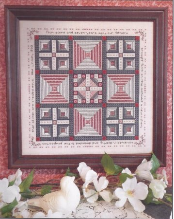 click here to view larger image of Abe & Mary Lincoln's Quilt Sampler (chart)