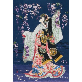 click here to view larger image of Sagi No Mai (counted cross stitch kit)