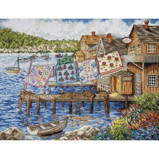 click here to view larger image of Dockside Quilts (counted cross stitch kit)