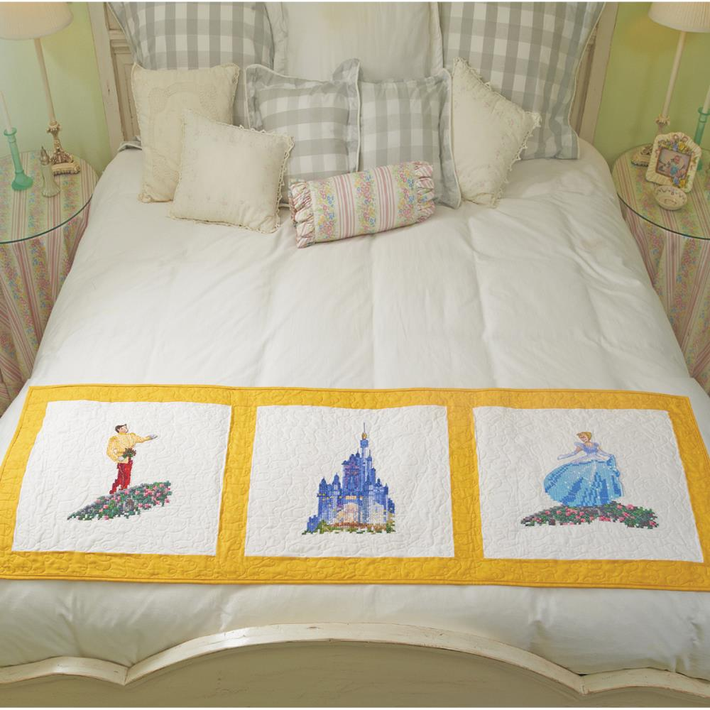 click here to view larger image of Cinderella Wishes Upon A Dream Quilt Blocks (stamped cross stitch)