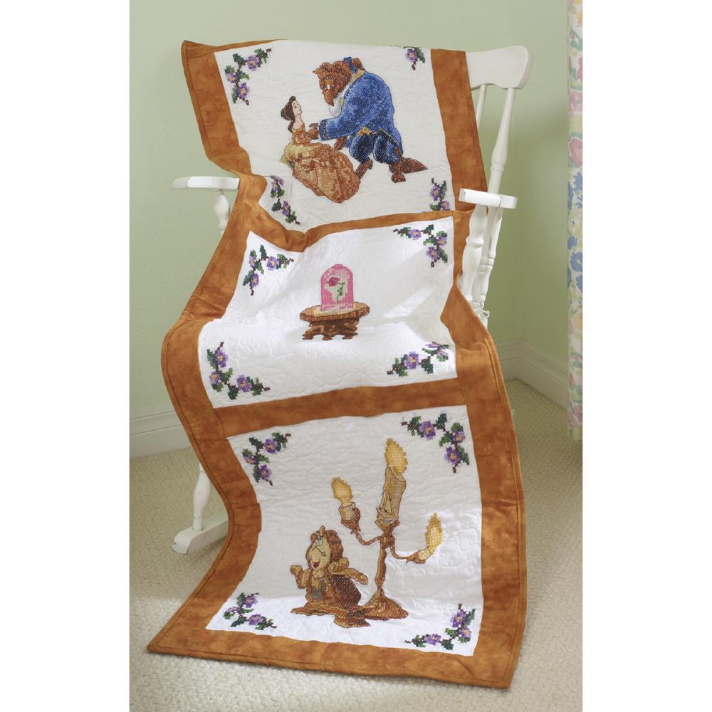click here to view larger image of Beauty and the Beast Quilt Blocks (stamped cross stitch)