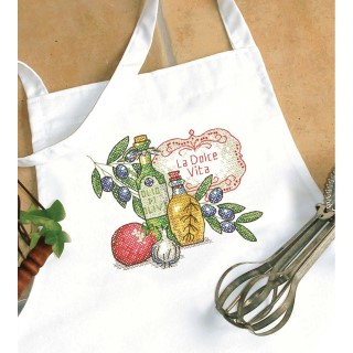 click here to view larger image of Tuscan Flavor Apron (stamped cross stitch)