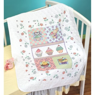 click here to view larger image of Sweet As A Cupcake Quilt (counted cross stitch kit)
