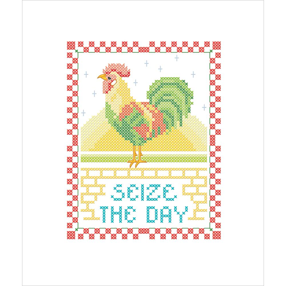 click here to view larger image of Seize The Day (stamped cross stitch kit)