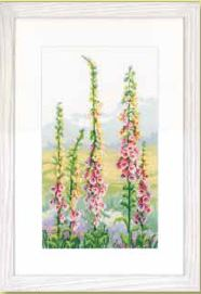 click here to view larger image of Foxgloves at Dawn (counted cross stitch kit)