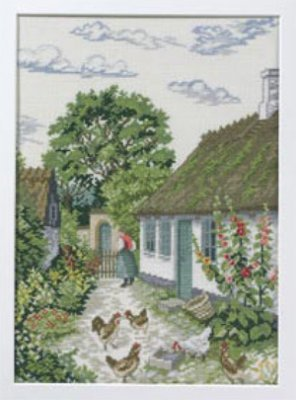 click here to view larger image of Hollyhock (28ct) (counted cross stitch kit)